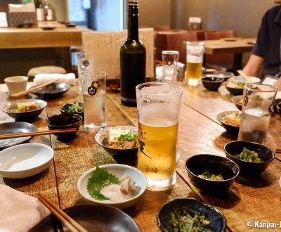 Shibuya Tempura Bar Kakureya Shibuten, Drinks and otoshi