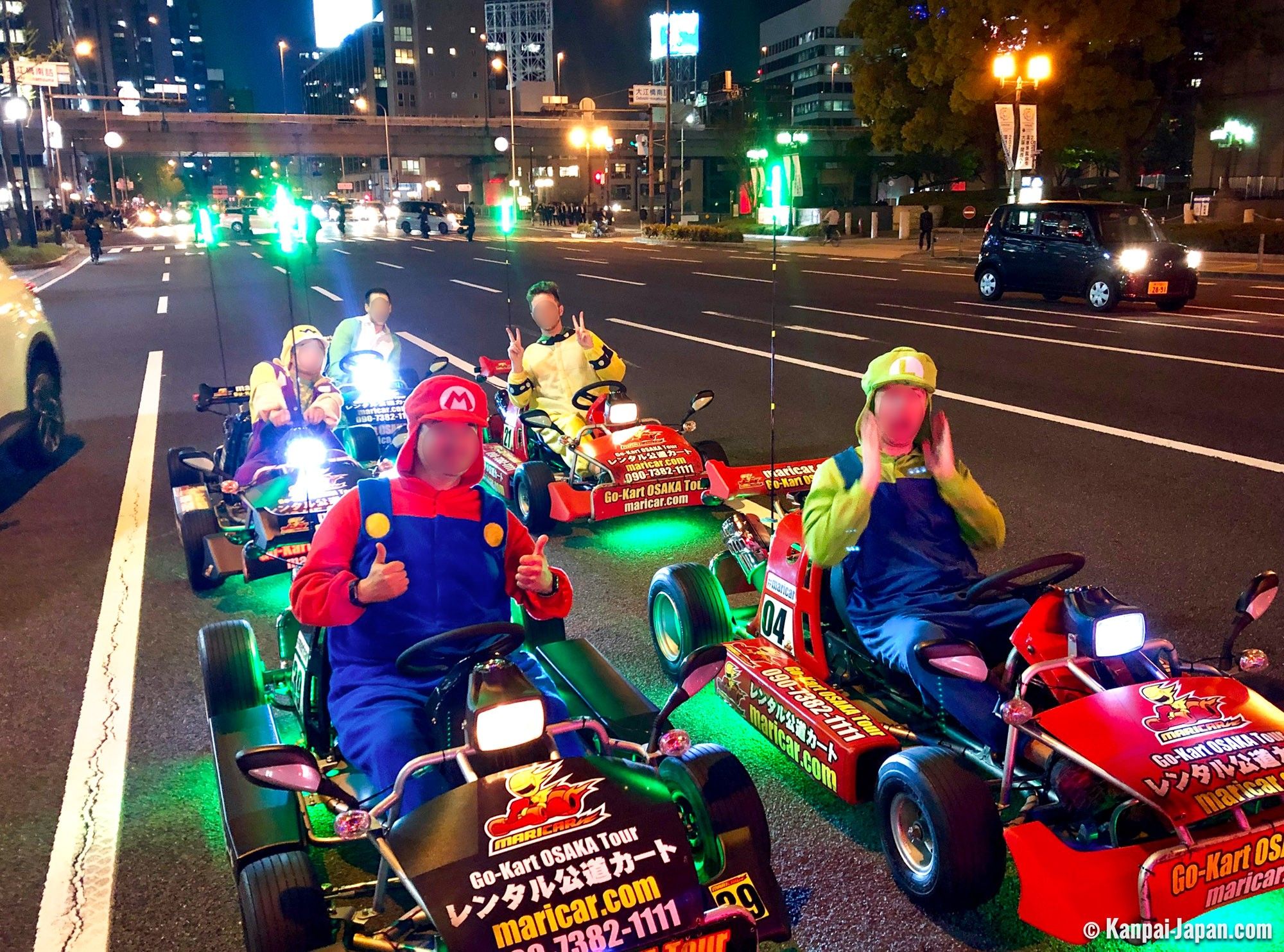 Street Go Karting Tour Kart Experience Through The Streets Of Osaka