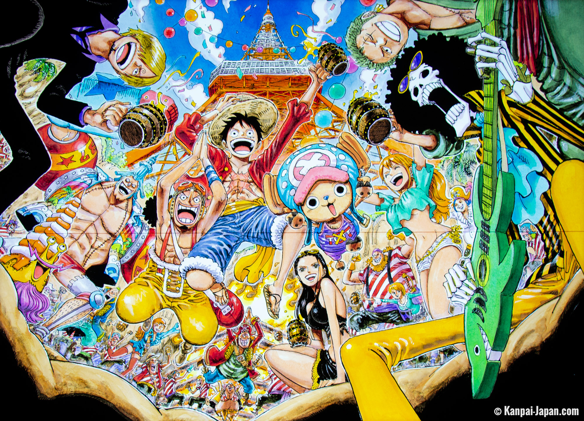 Tokyo One Piece Tower - The famous pirates' crew amusement park